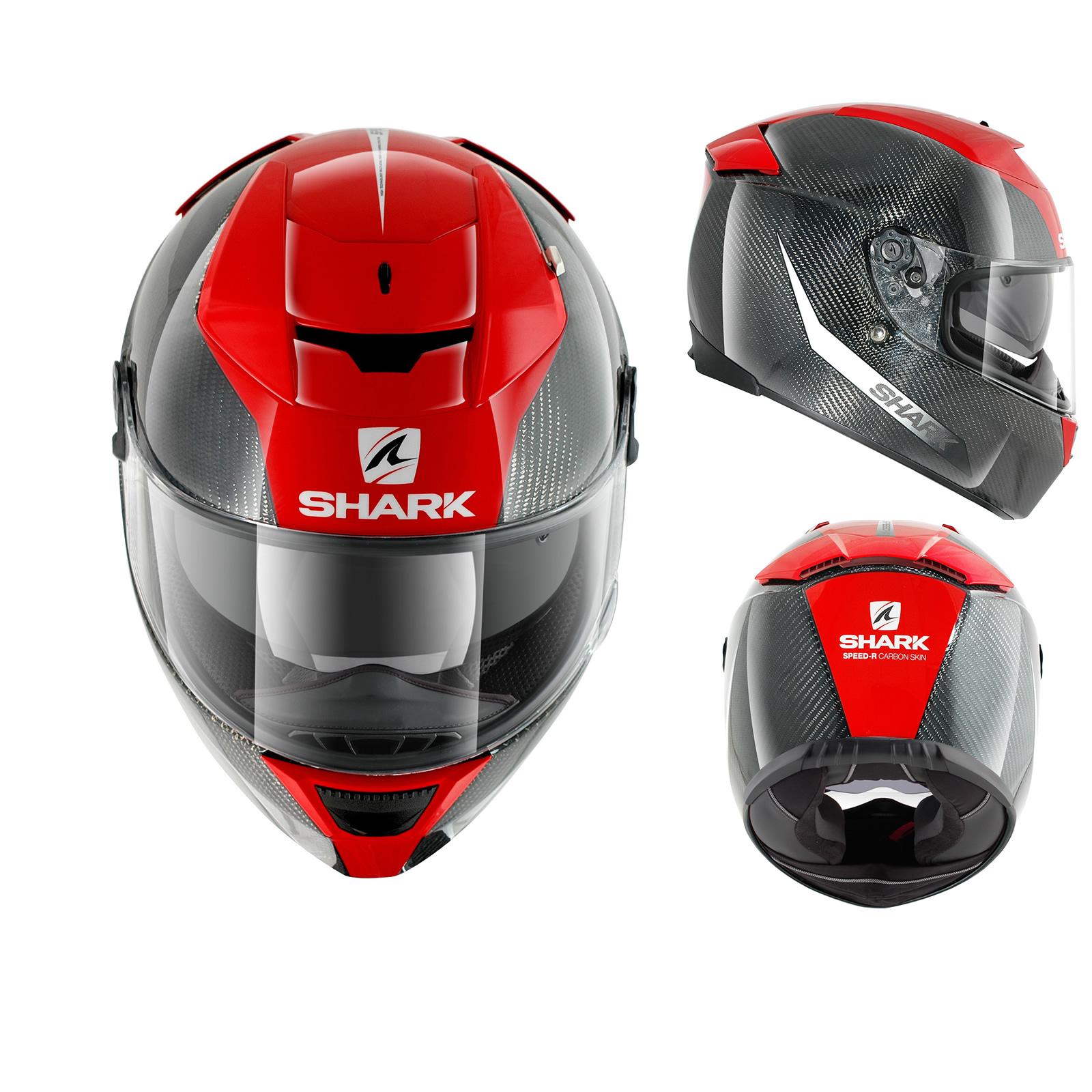 shark speed r carbon fibre skin internal sun visor full face motorcycle helmet ebay. Black Bedroom Furniture Sets. Home Design Ideas
