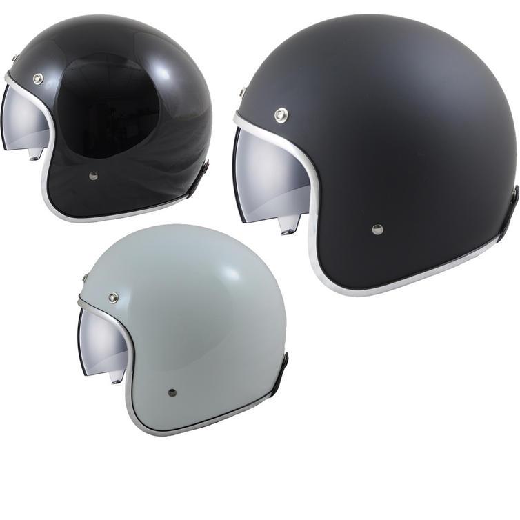 MT Le Man's SV Plain Open Face Motorcycle Helmet