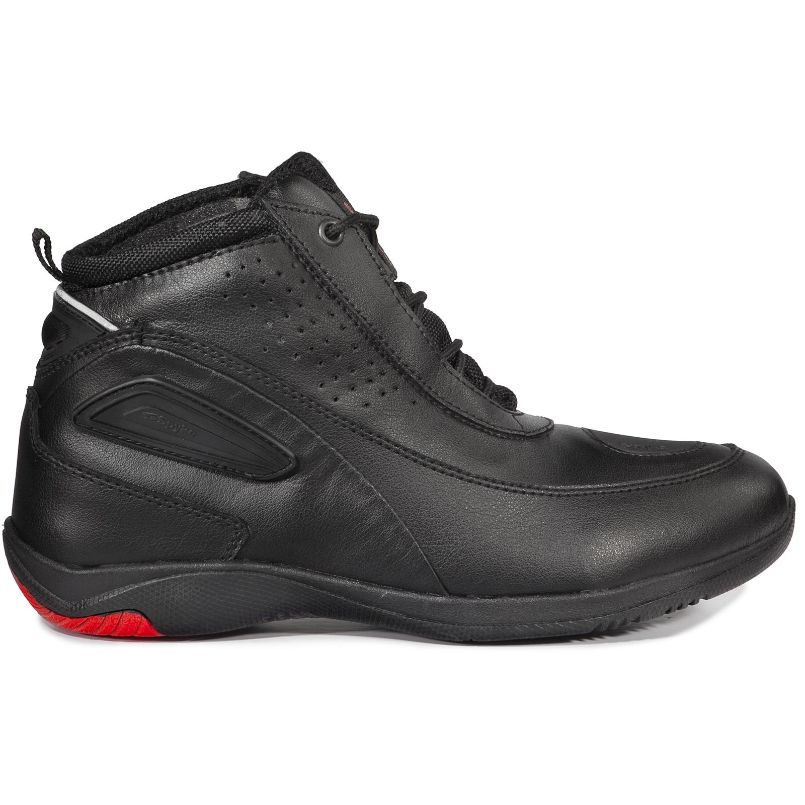 Spyke Urban Mid WP Waterproof Motorcycle Boots Short Ankle Paddock ...