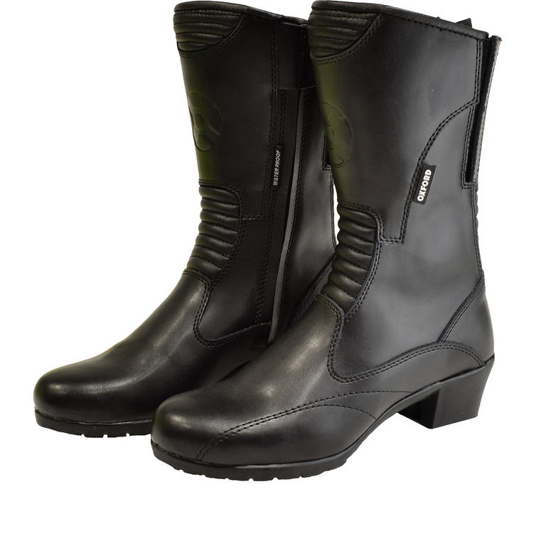 Oxford Savannah Ladies Leather Waterproof Motorcycle Boots