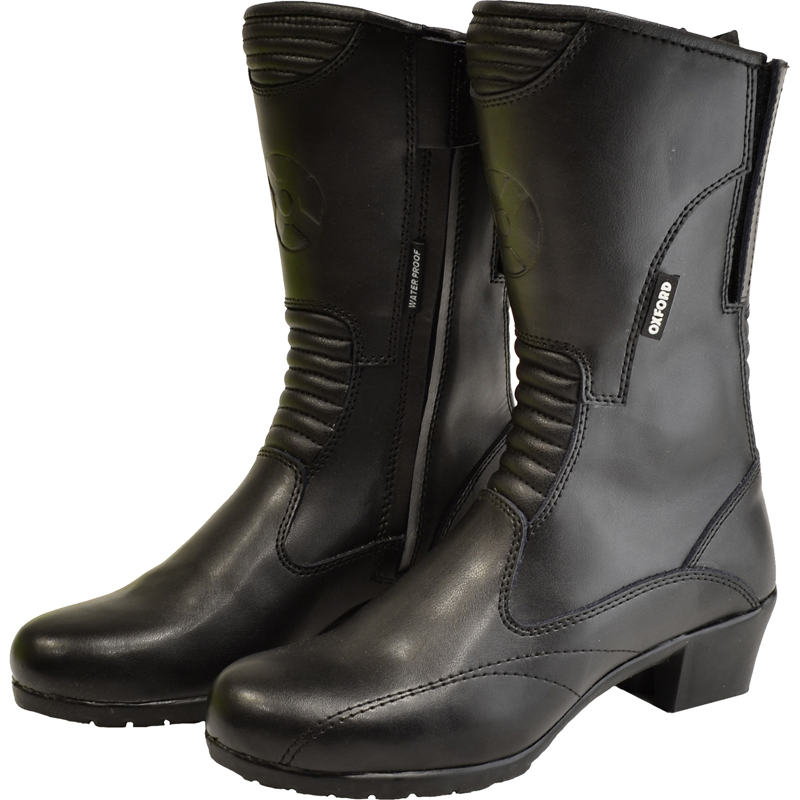 Oxford Savannah Ladies Leather Motorcycle Boots Waterproof Womens ...