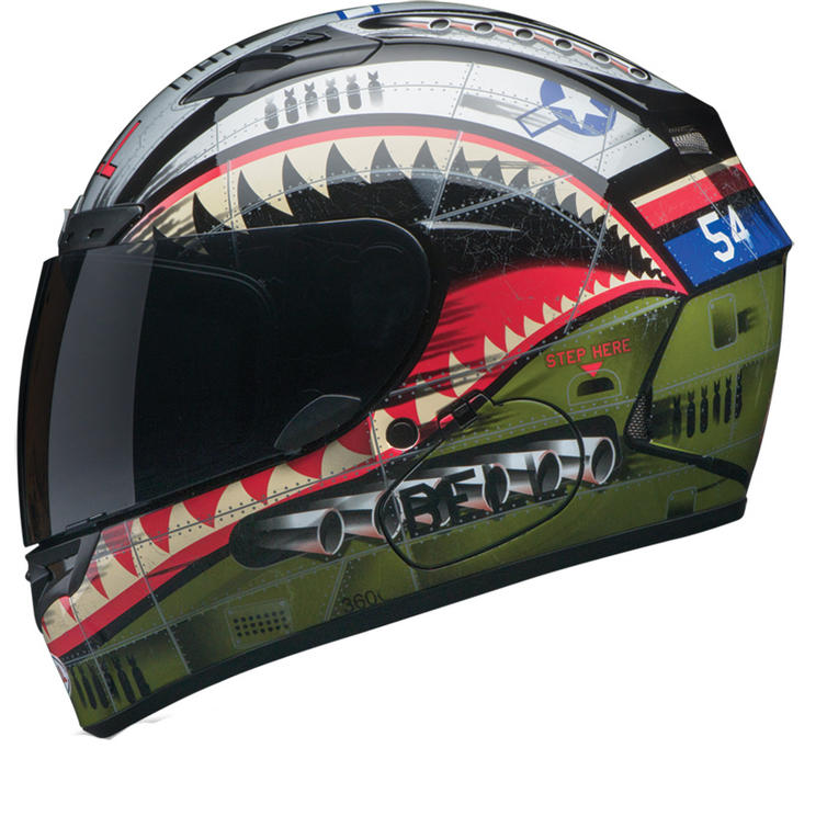 Image of Bell Qualifier DLX Devil May Care Matte Motorcycle Helmet