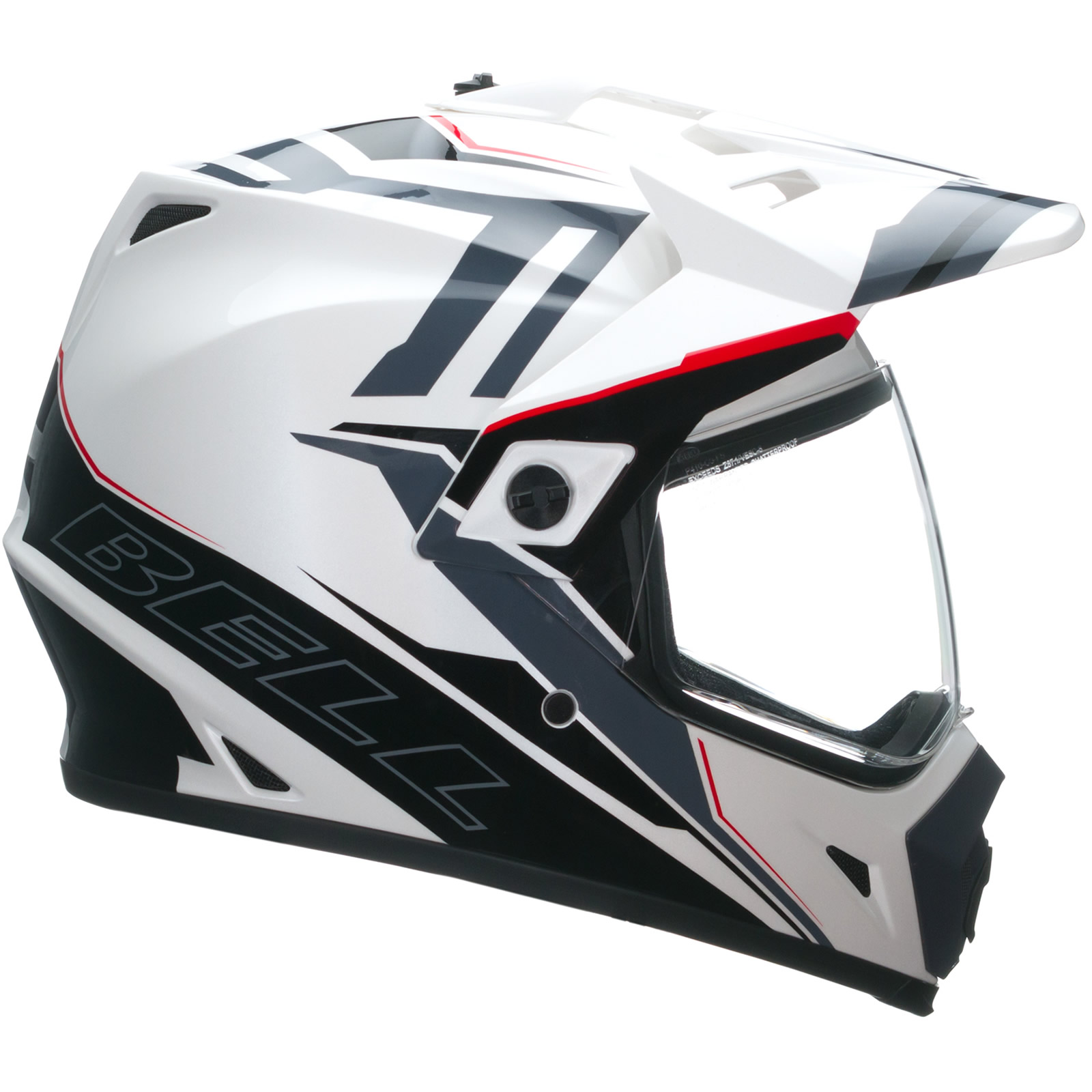 bell mx 9 adventure barricade white motocross helmet mx cross motox enduro quad ebay. Black Bedroom Furniture Sets. Home Design Ideas