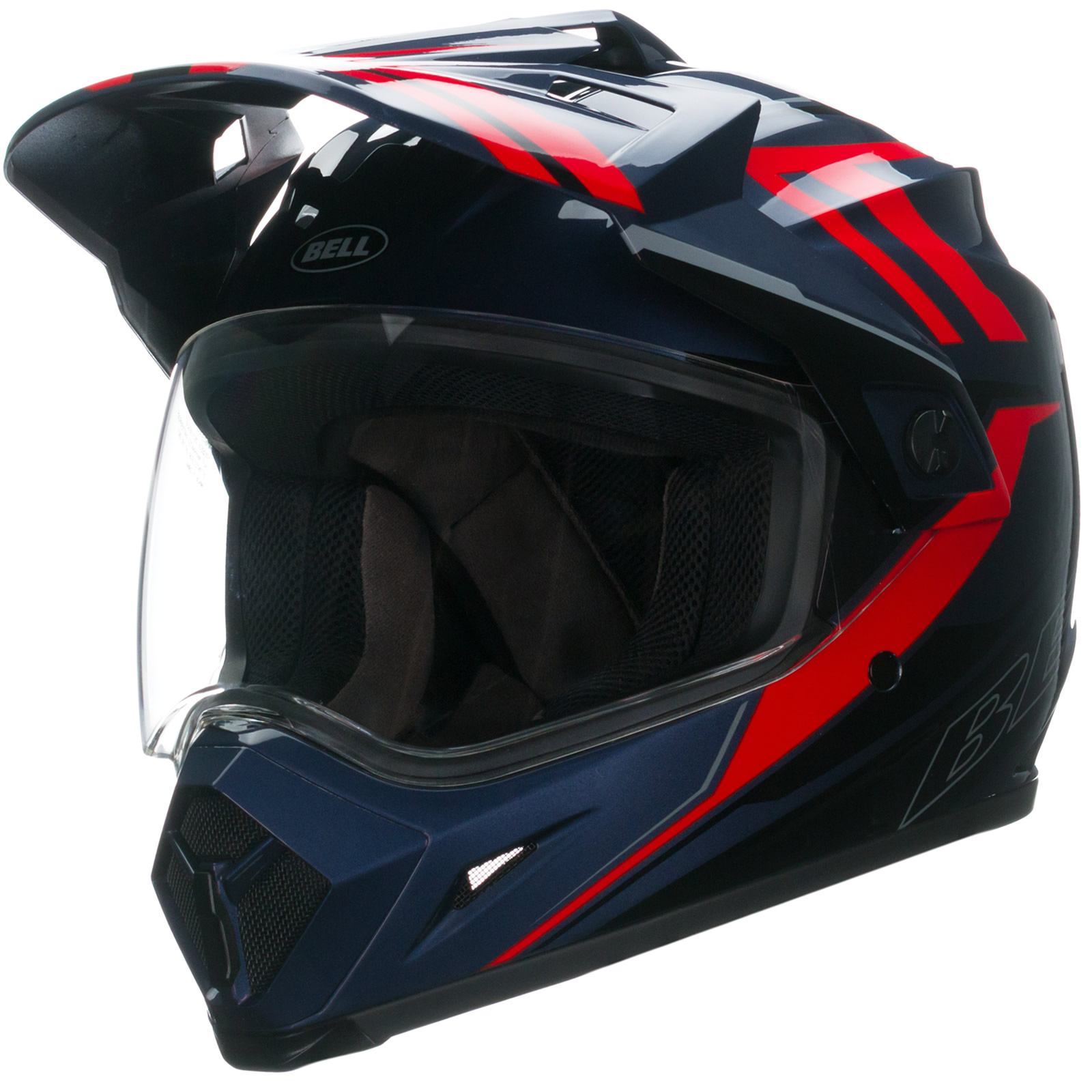 bell mx 9 adventure barricade red motocross helmet quad motox cross mx race lid ebay. Black Bedroom Furniture Sets. Home Design Ideas