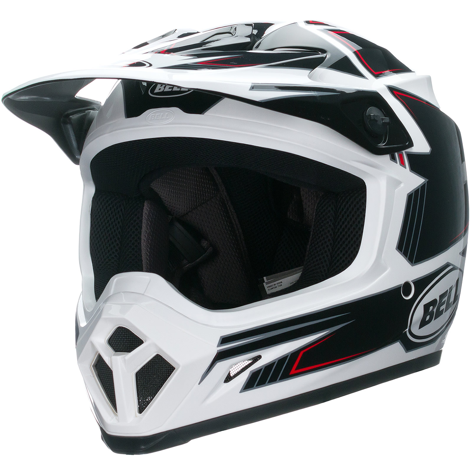 bell mx 9 blockade black motocross helmet mx cross motox quad enduro off road ebay. Black Bedroom Furniture Sets. Home Design Ideas