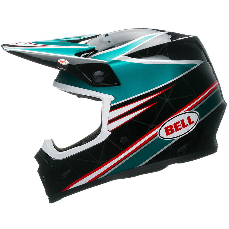bell mx 9 airtrix paradise motocross helmet bell. Black Bedroom Furniture Sets. Home Design Ideas