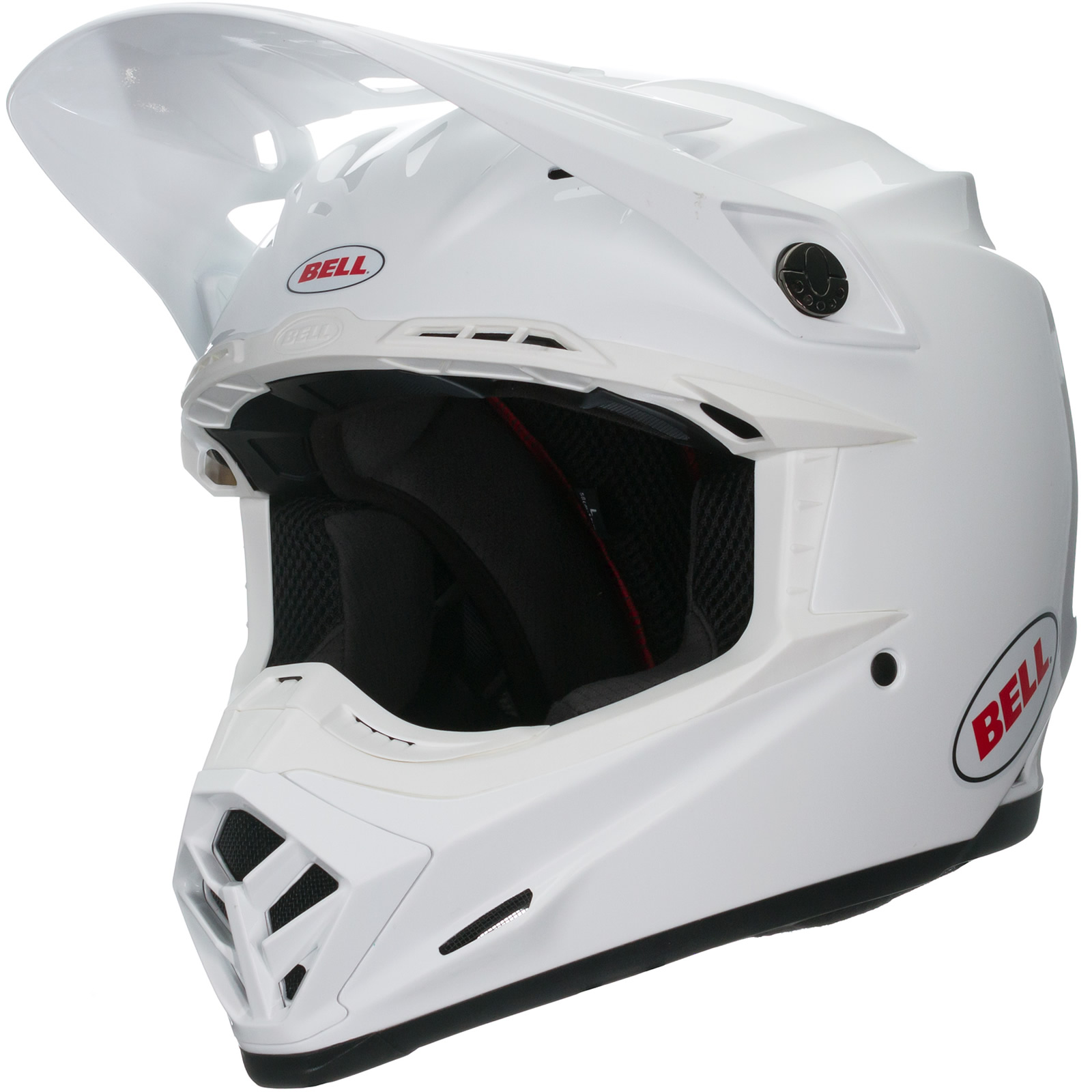 bell moto 9 solid motocross helmet mx lightweight atv vented off road warranty ebay. Black Bedroom Furniture Sets. Home Design Ideas