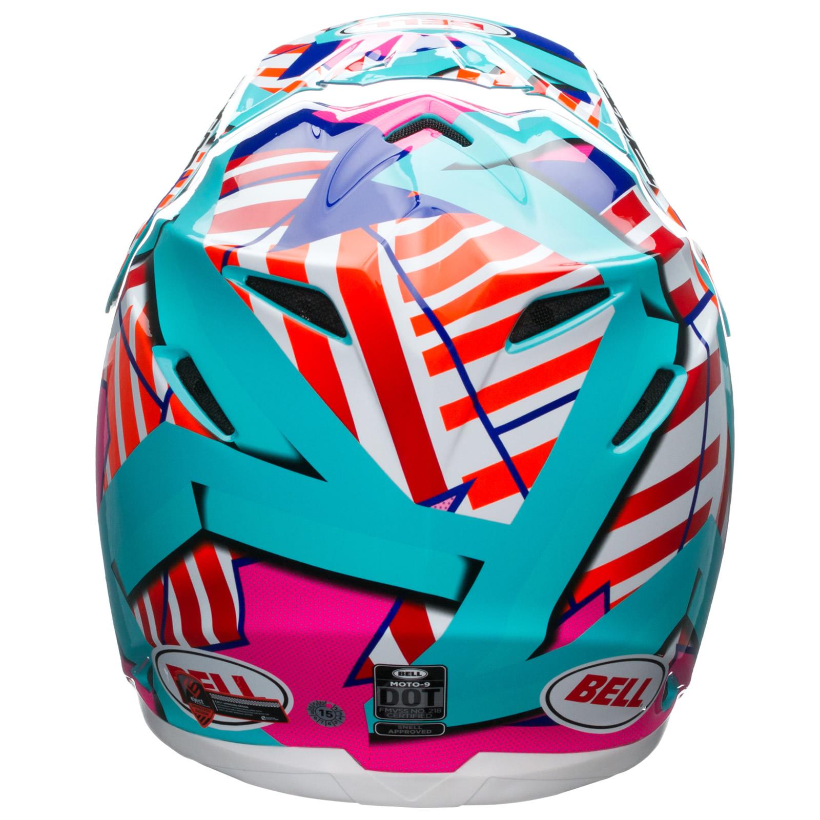 bell moto 9 tagger trouble motocross helmet dot approved mx atv off road ebay. Black Bedroom Furniture Sets. Home Design Ideas