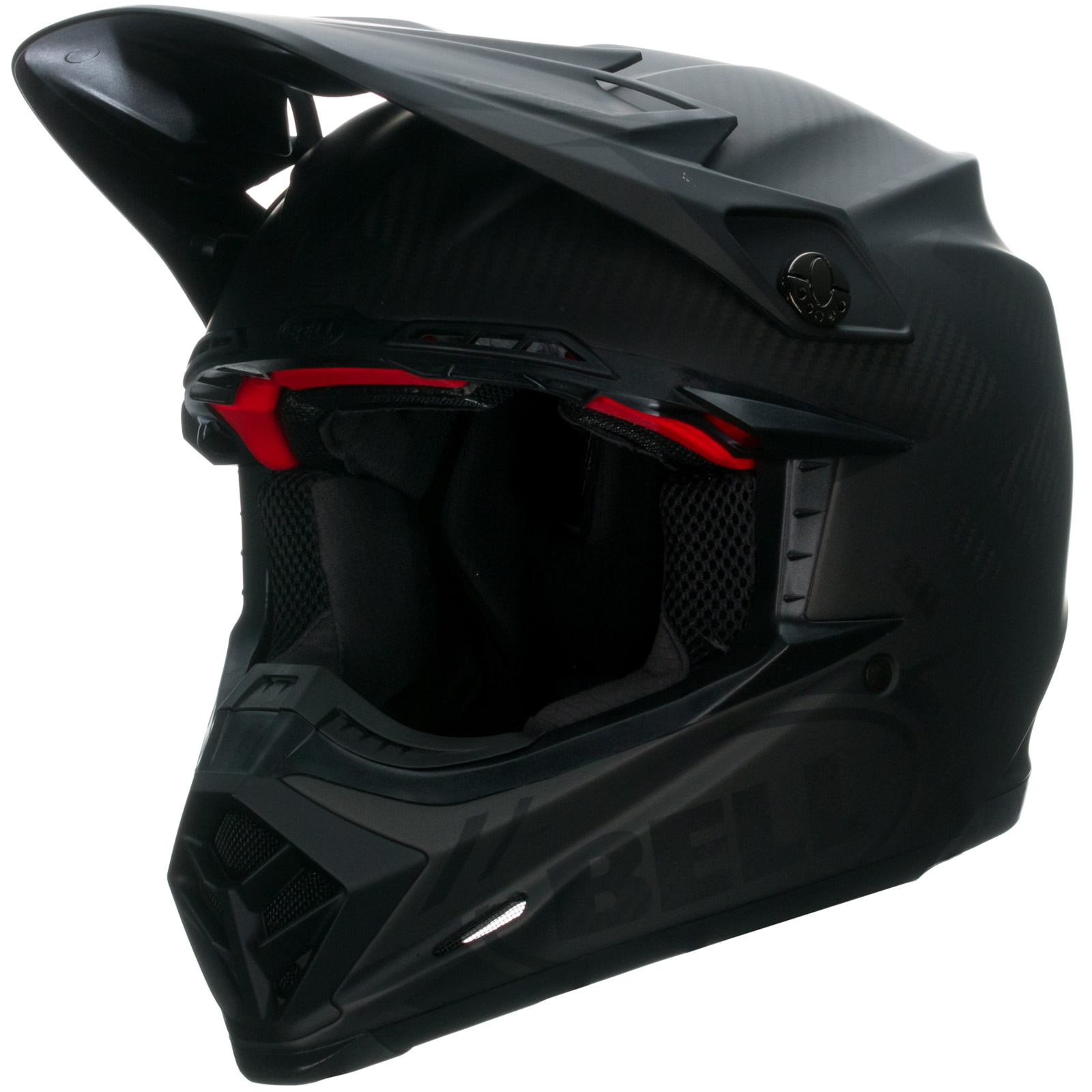Bell Moto 9 Flex Helmet >> Bell Moto-9 Carbon Flex Syndrome Matt Black MX Cross Quad Motocross Safety Lid | eBay
