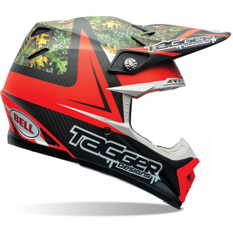 Bell Moto-9 Carbon Flex Tagger Rekluse Motocross Helmet