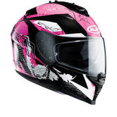 HJC IS-17 Pink Rocket Ladies Motorcycle Helmet