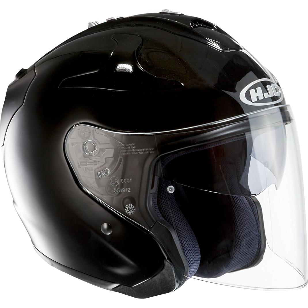 hjc fg jet open face motorcycle helmet motorbike pinlock solid scooter biker ebay. Black Bedroom Furniture Sets. Home Design Ideas