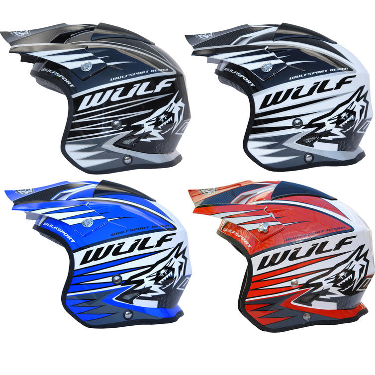 Wulf Tri-Action Trials Helmet