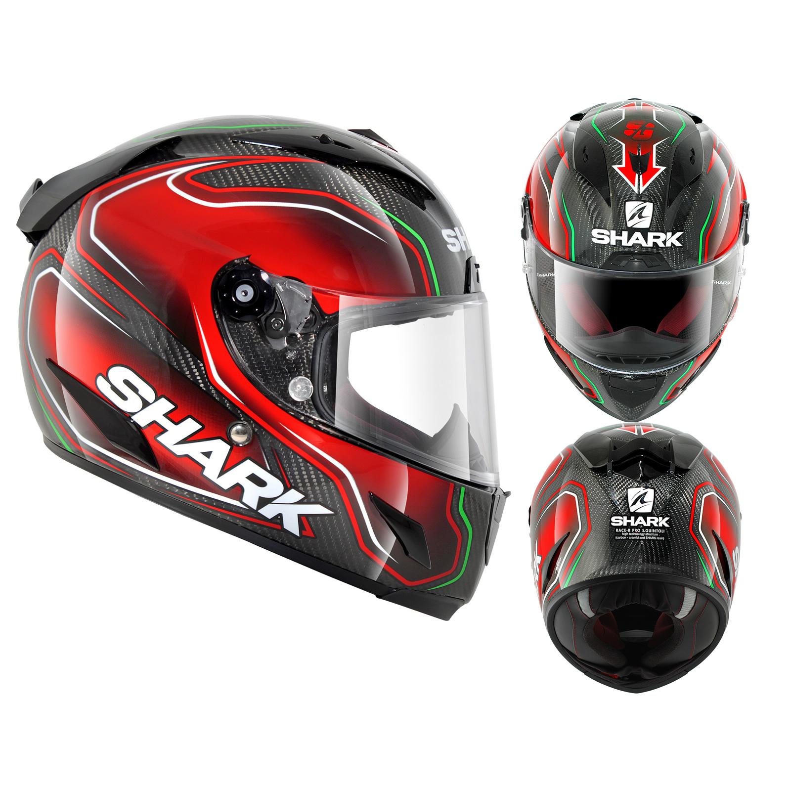 shark race r pro carbon guintoli motorcycle helmet full face helmets. Black Bedroom Furniture Sets. Home Design Ideas