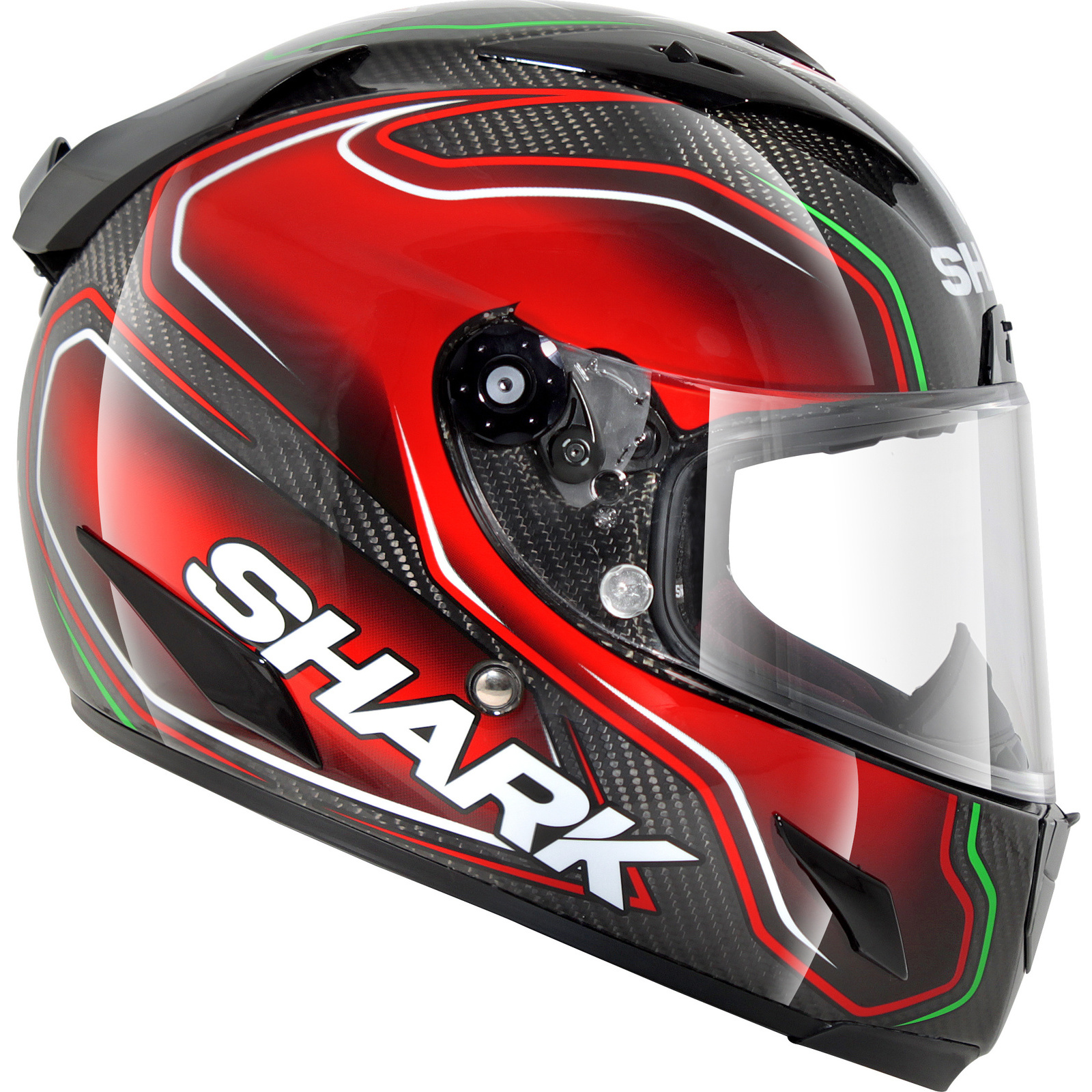 shark race r pro carbon guintoli black red motorcycle helmet drg road protection ebay. Black Bedroom Furniture Sets. Home Design Ideas