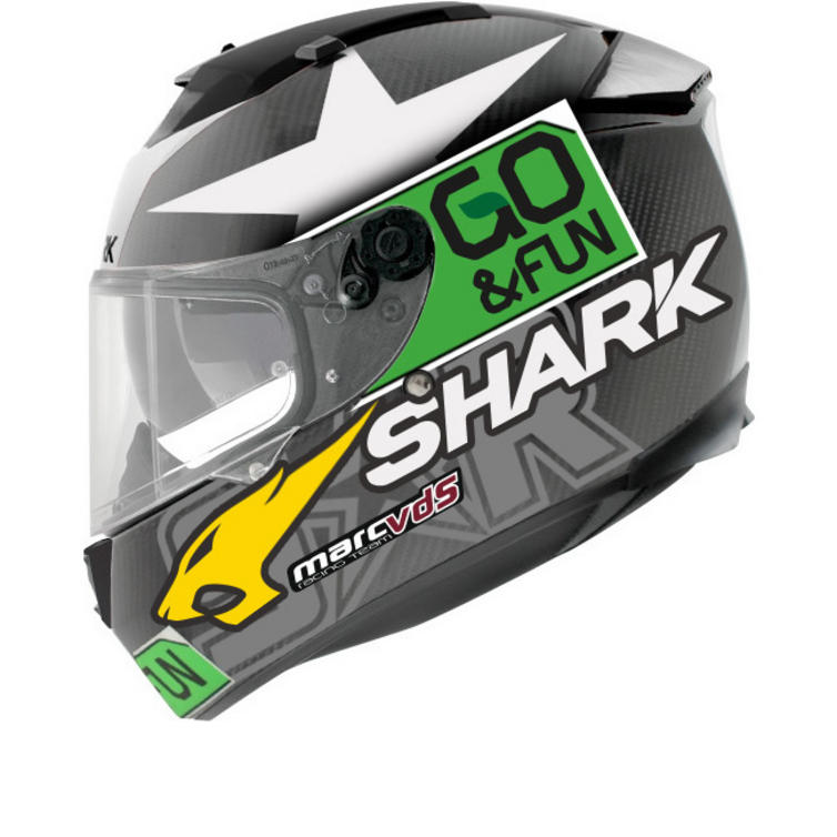 Shark Speed-R Carbon Redding Go & Fun Motorcycle Helmet