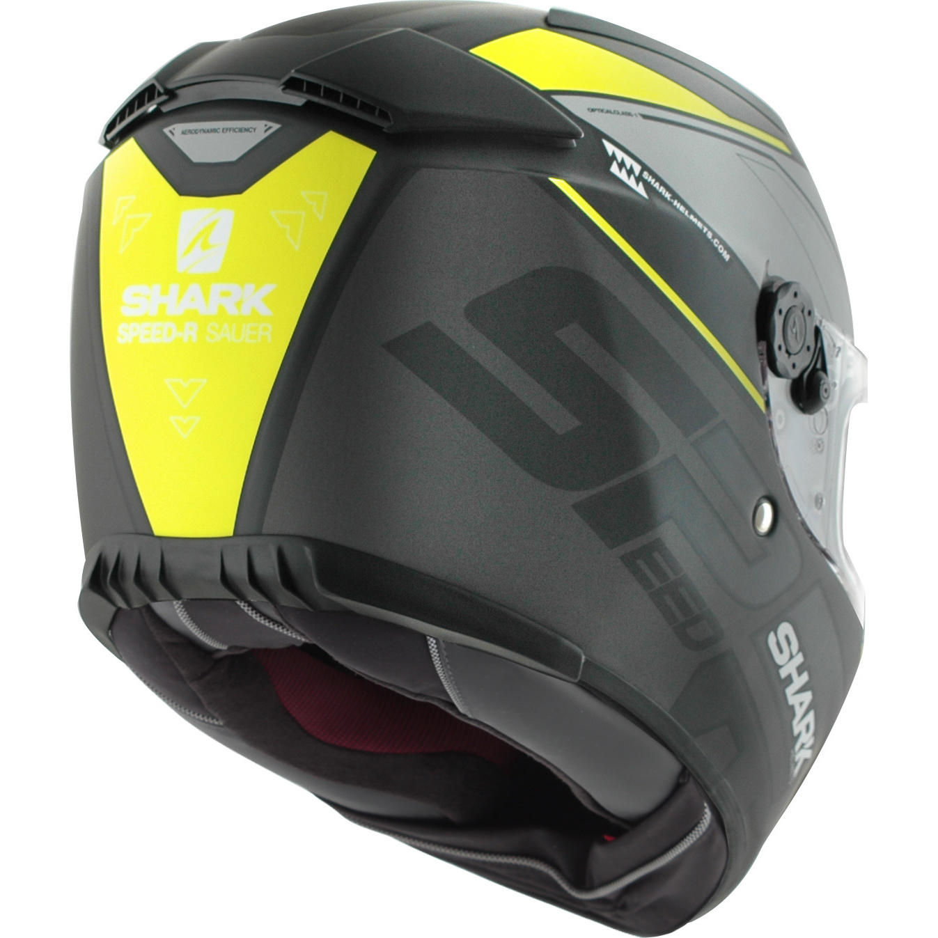 shark speed r sauer matt black hi viz motorcycle helmet kyk race sun visor safe ebay. Black Bedroom Furniture Sets. Home Design Ideas