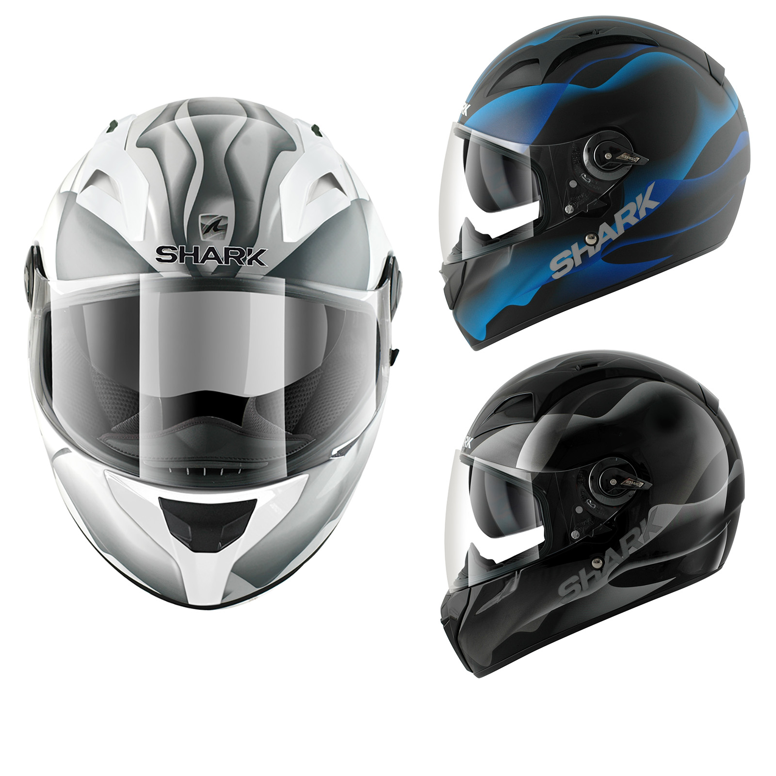 shark vision r smoke motorcycle helmet full face helmets. Black Bedroom Furniture Sets. Home Design Ideas