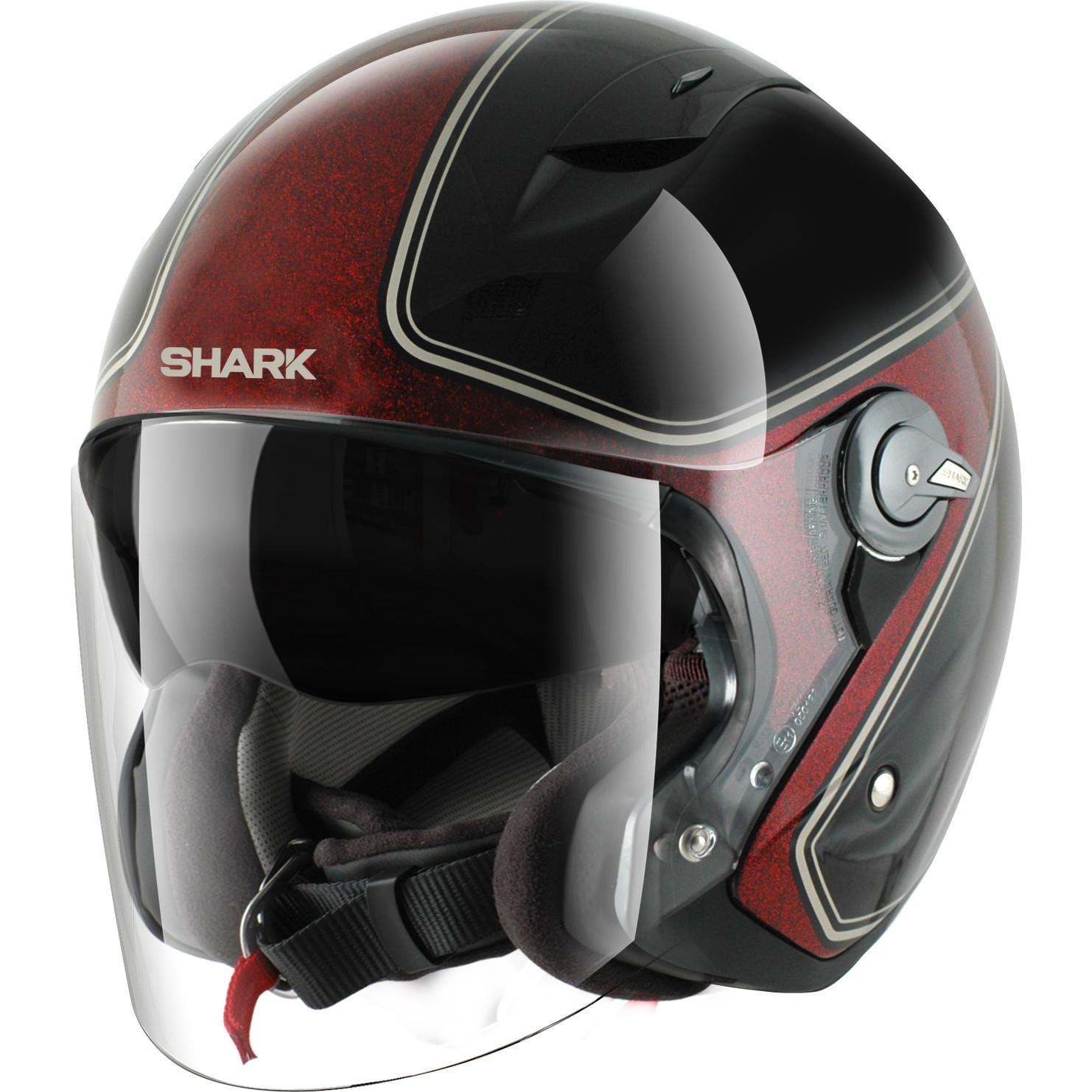 shark rsj sassy motorcycle helmet open face jet scooter. Black Bedroom Furniture Sets. Home Design Ideas
