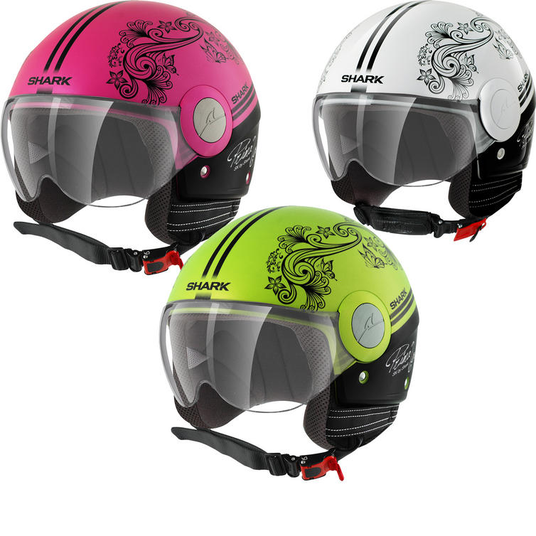 Shark SK Prima Volta Open Face Motorcycle Helmet