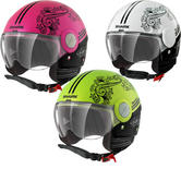 Shark SK Prima Volta Open Face Motorcycle Helmet