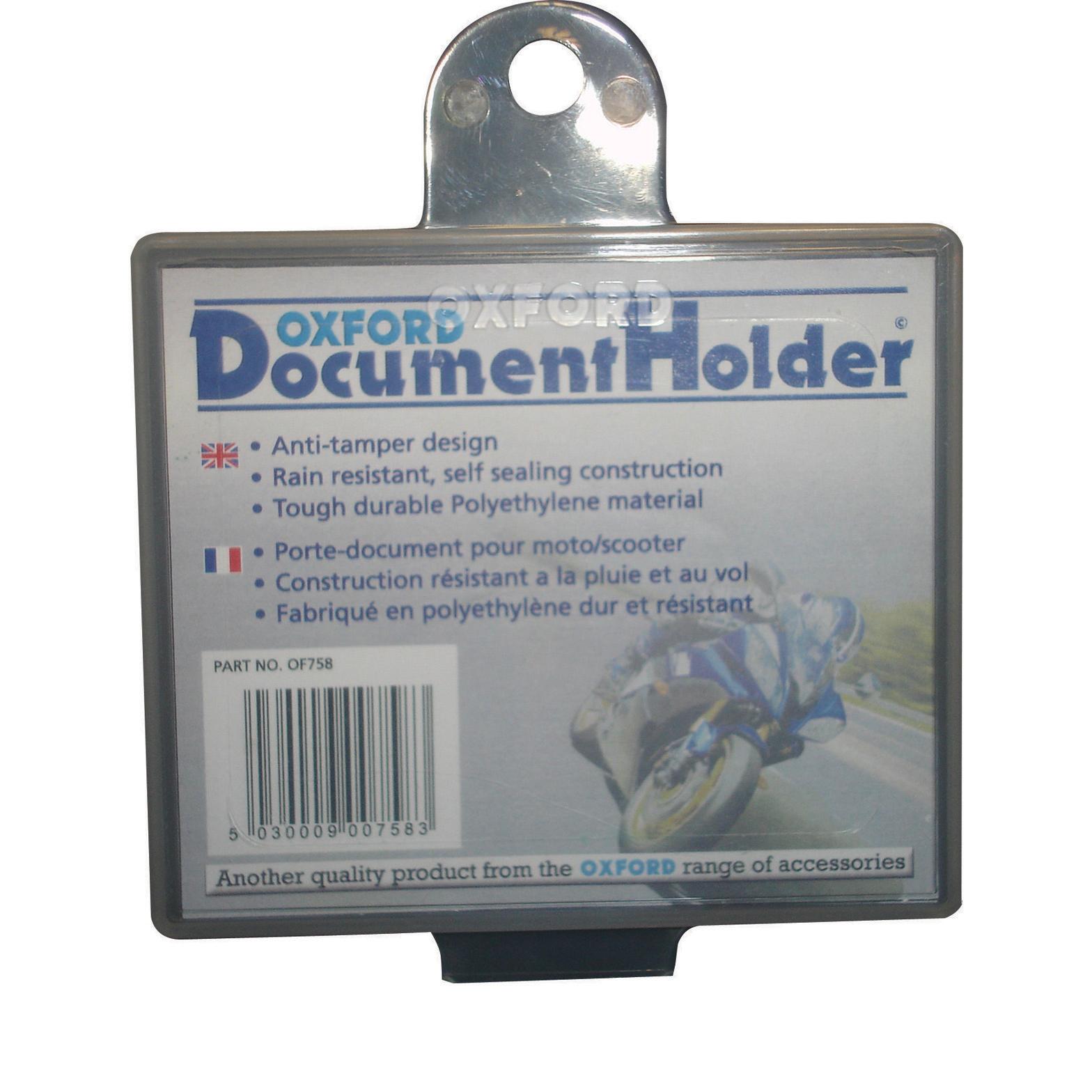 oxford motorcycle document holder motorbike bike plastic With motorcycle documents holder