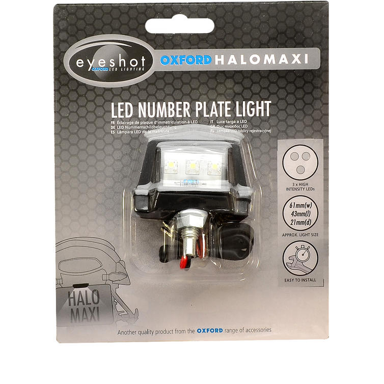 Oxford Halo Maxi LED Number Plate Light