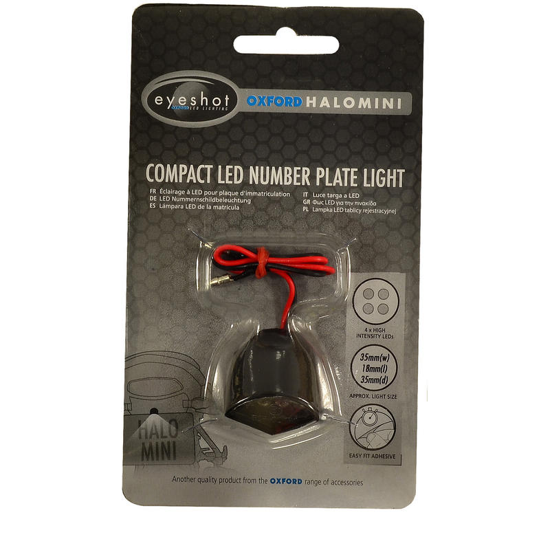 Oxford Halo Mini Compact LED Number Plate Light
