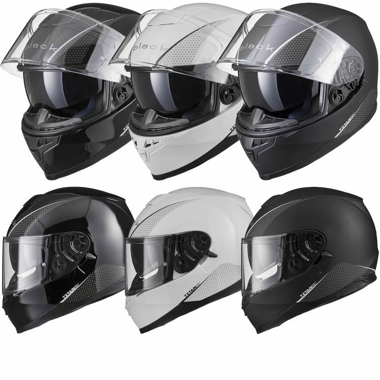 Black Titan SV Solid Motorcycle Helmet