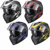 Black Titan SV Edge Motorcycle Helmet