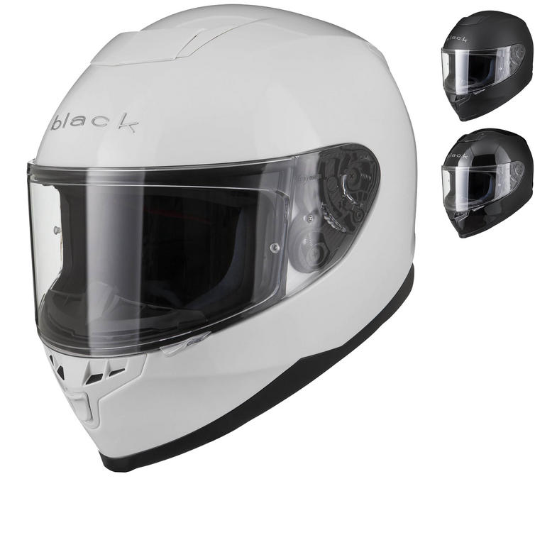 Black Titan Solid Motorcycle Helmet