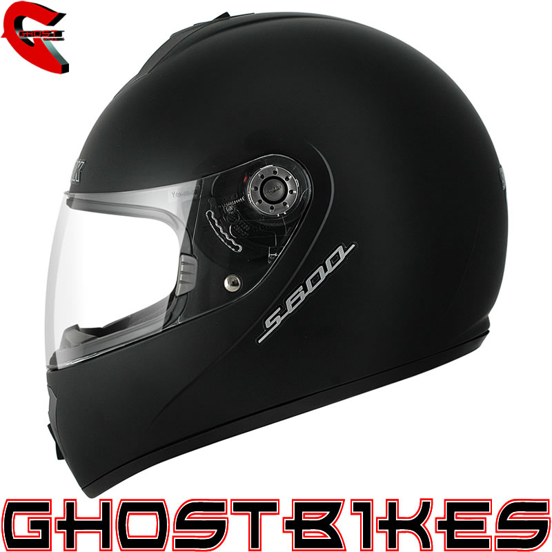 SHARK S600 PRIME MAT PLAIN SOLID MATT BLACK MOTORBIKE MOTORCYCLE HELMET Enlarged Preview
