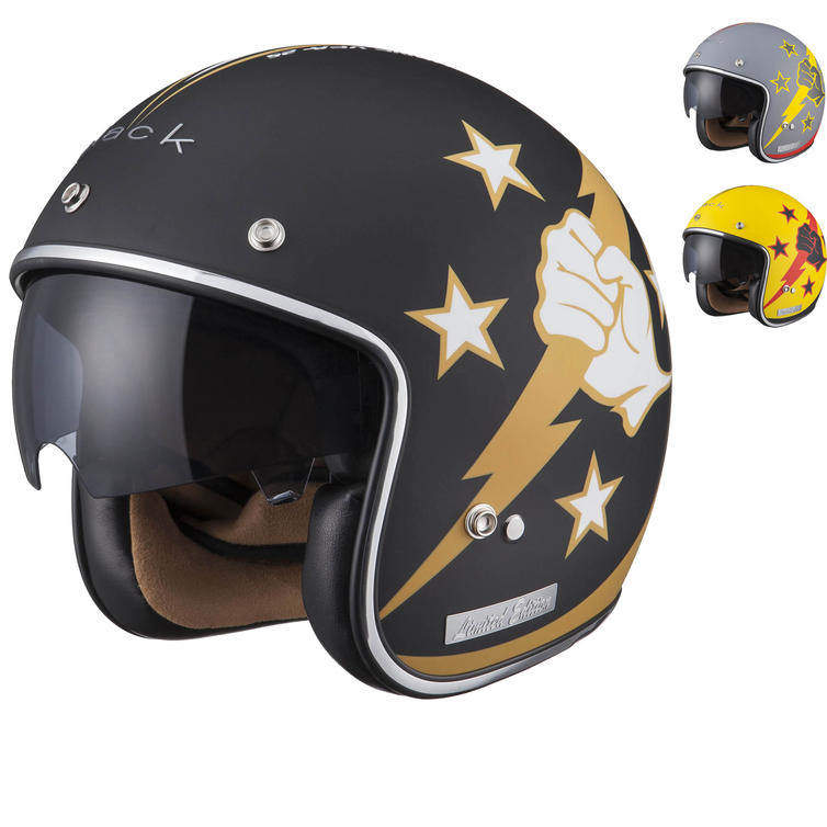 Image of Limited Edition Black Airborne Motorcycle Helmet