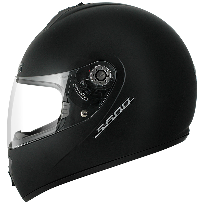 SHARK-S600-PRIME-MAT-PLAIN-SOLID-MATT-BLACK-MOTORBIKE-MOTORCYCLE-HELMET