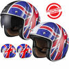 Black Classic British Open Face Helmet Thumbnail 1