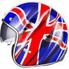 Black Classic British Open Face Helmet Thumbnail 8