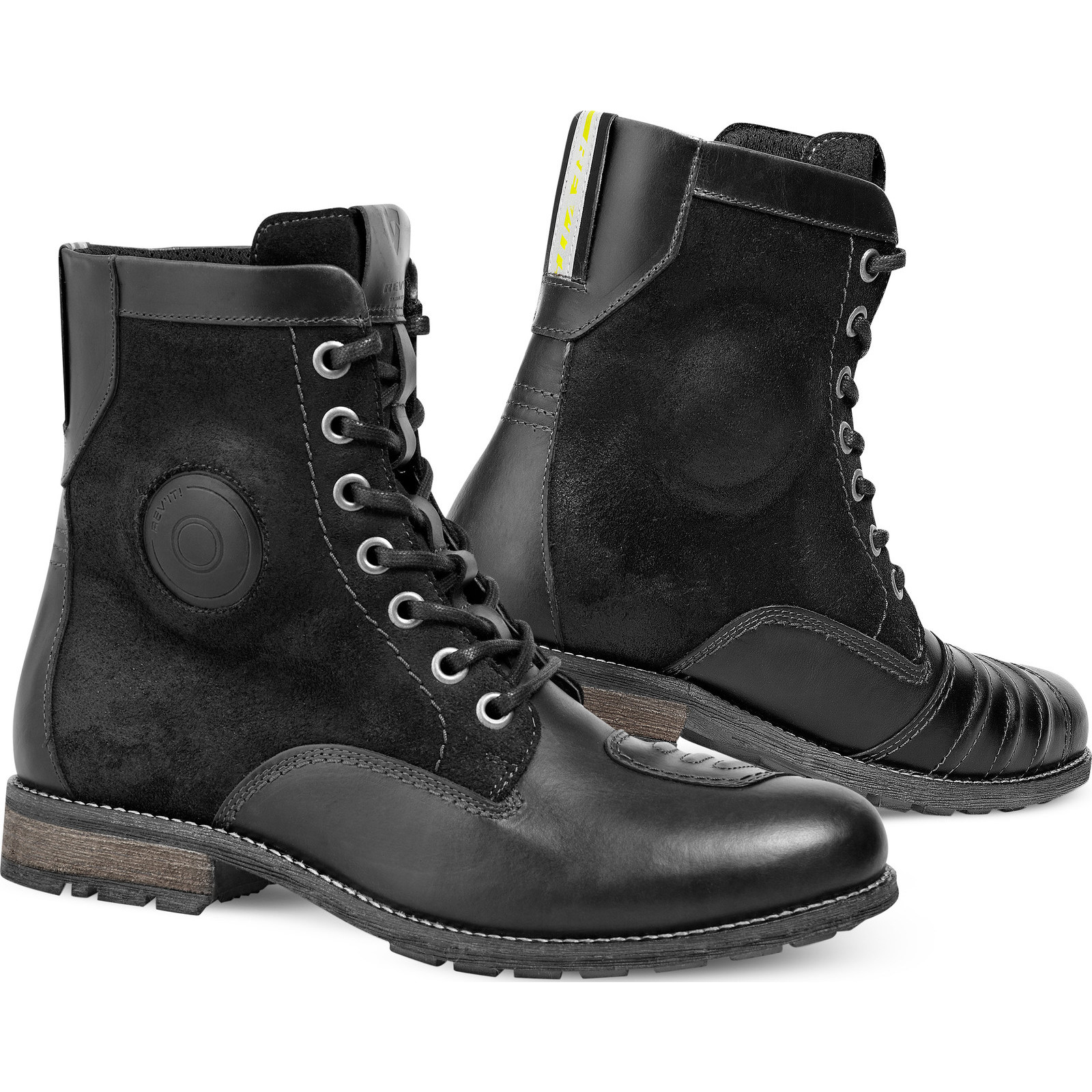 rev it regent motorcycle leather boots water resistant