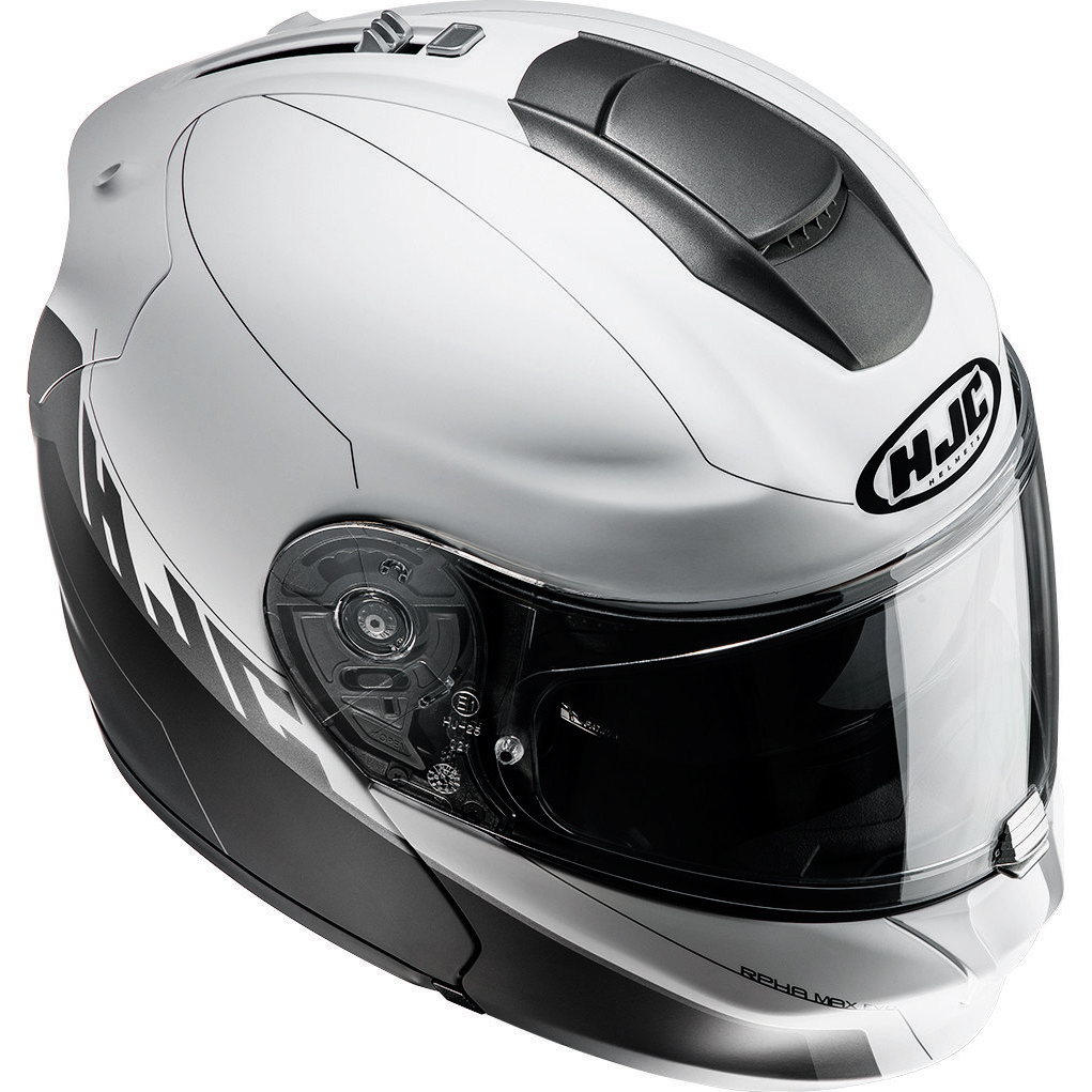 hjc rpha max evo zoomwalt white flip up motorbike helmet acu internal sun visor ebay. Black Bedroom Furniture Sets. Home Design Ideas