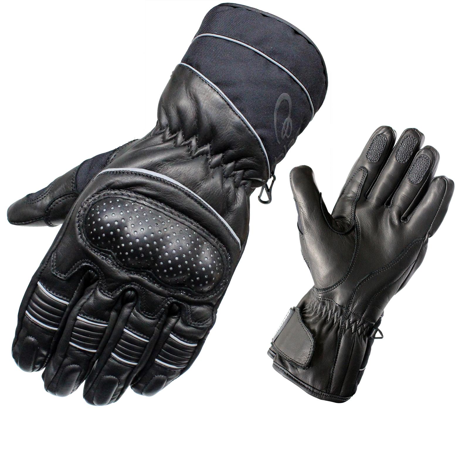 Motorcycle gloves nepal - Black Vector Waterproof Leather Motorcycle Gloves Motorbike Touring City Bike