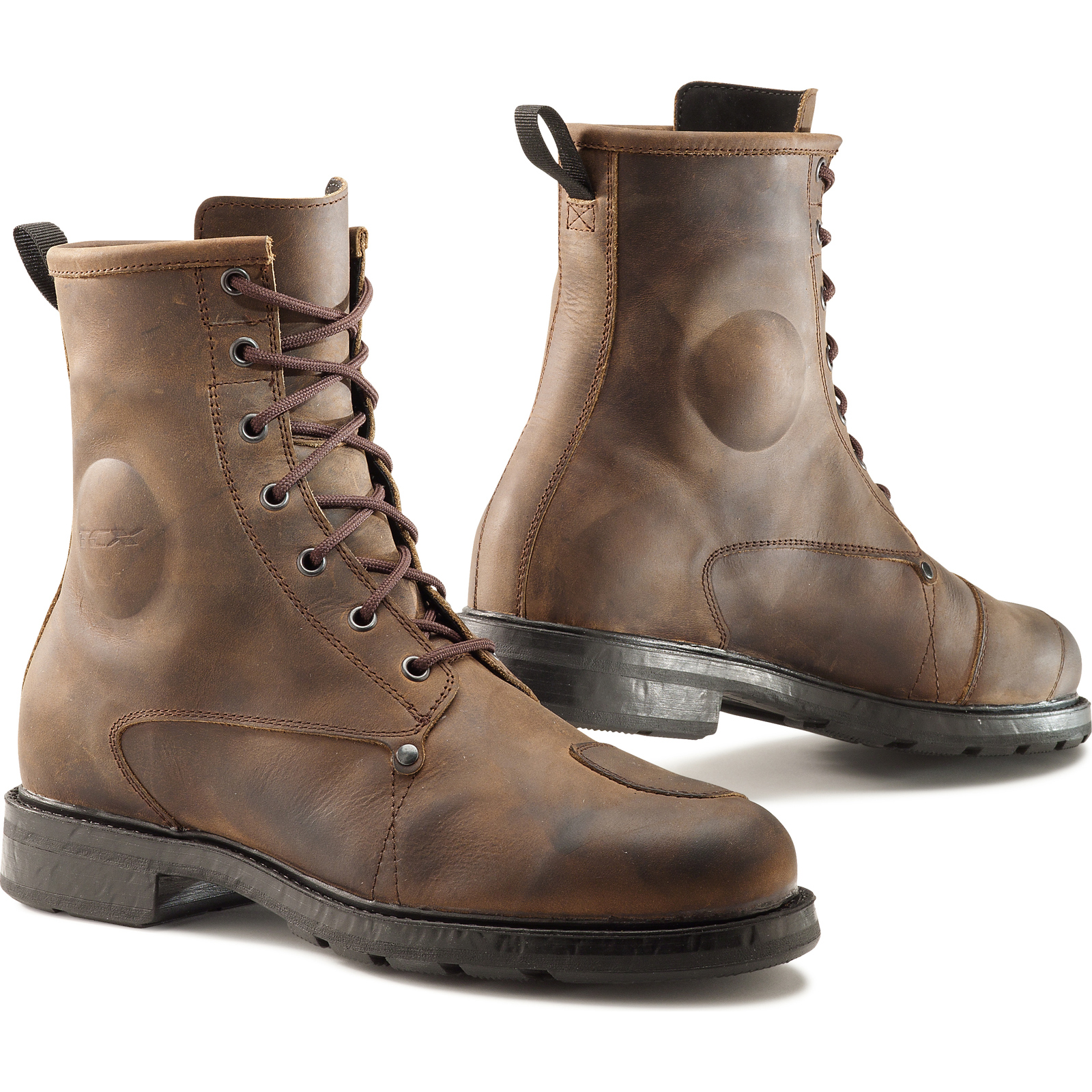 tcx x blend wp motorcycle boots waterproof vintage leather