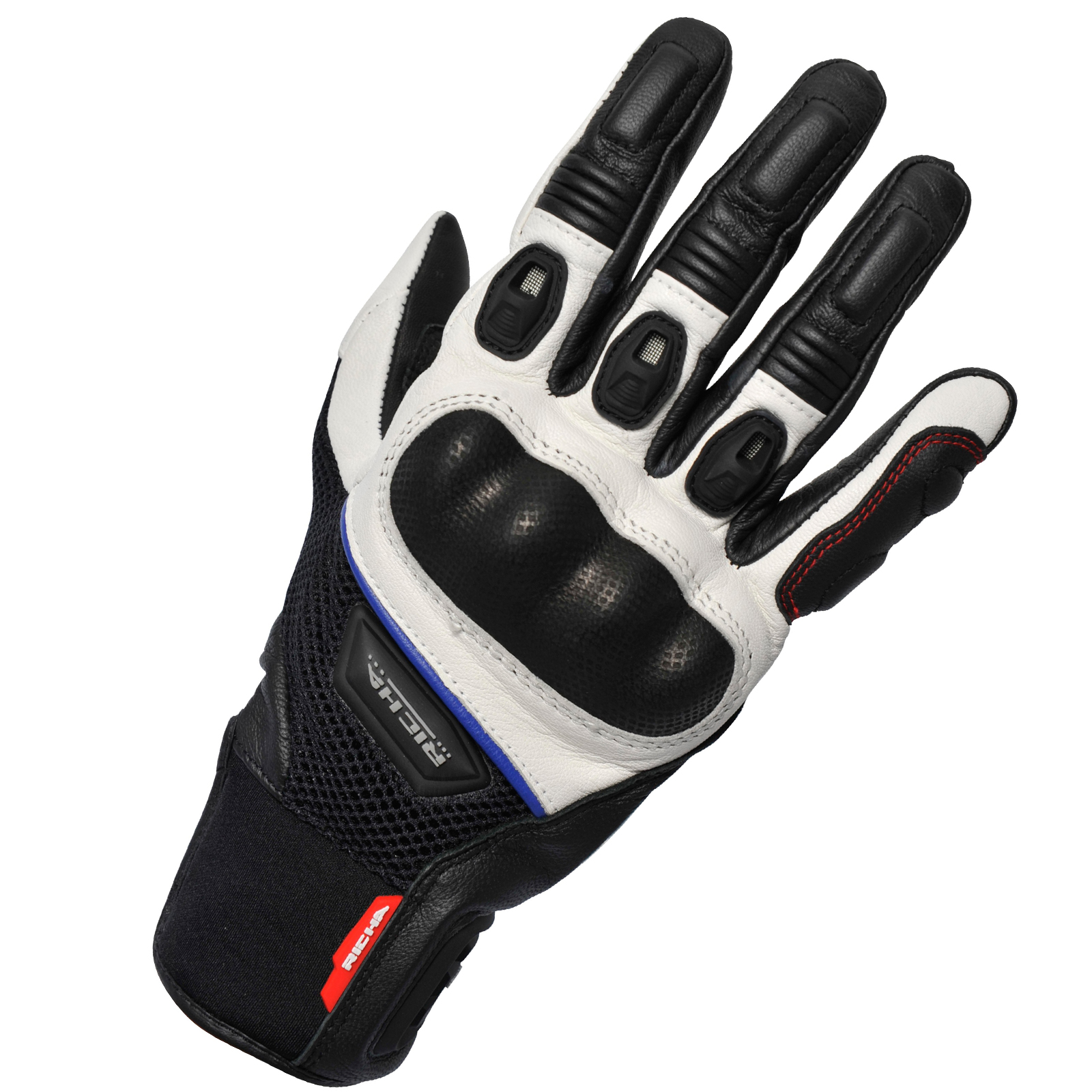 Motorcycle gloves ce approved - Richa Blast Motorcycle Gloves Leather Air Strech Mesh