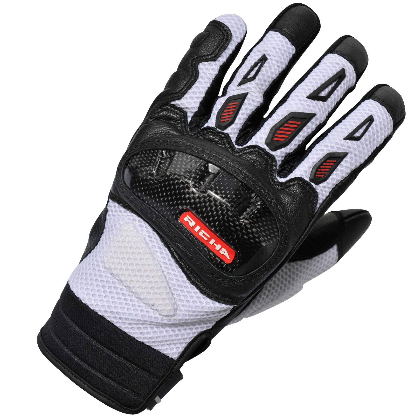 Motorcycle gloves richa - Richa Torsion Motorcycle Gloves Leather Air Guard Mesh