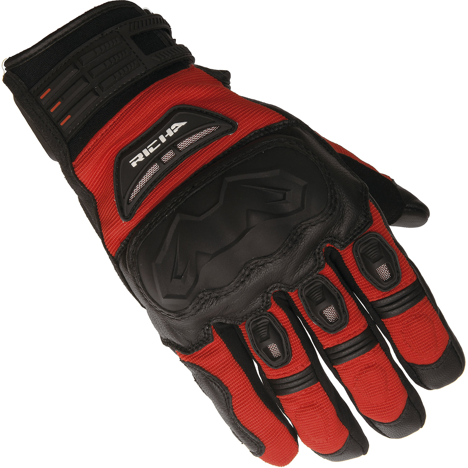 Motorcycle Gloves Touring - Richa evolution mens motorcycle gloves leather textile vented