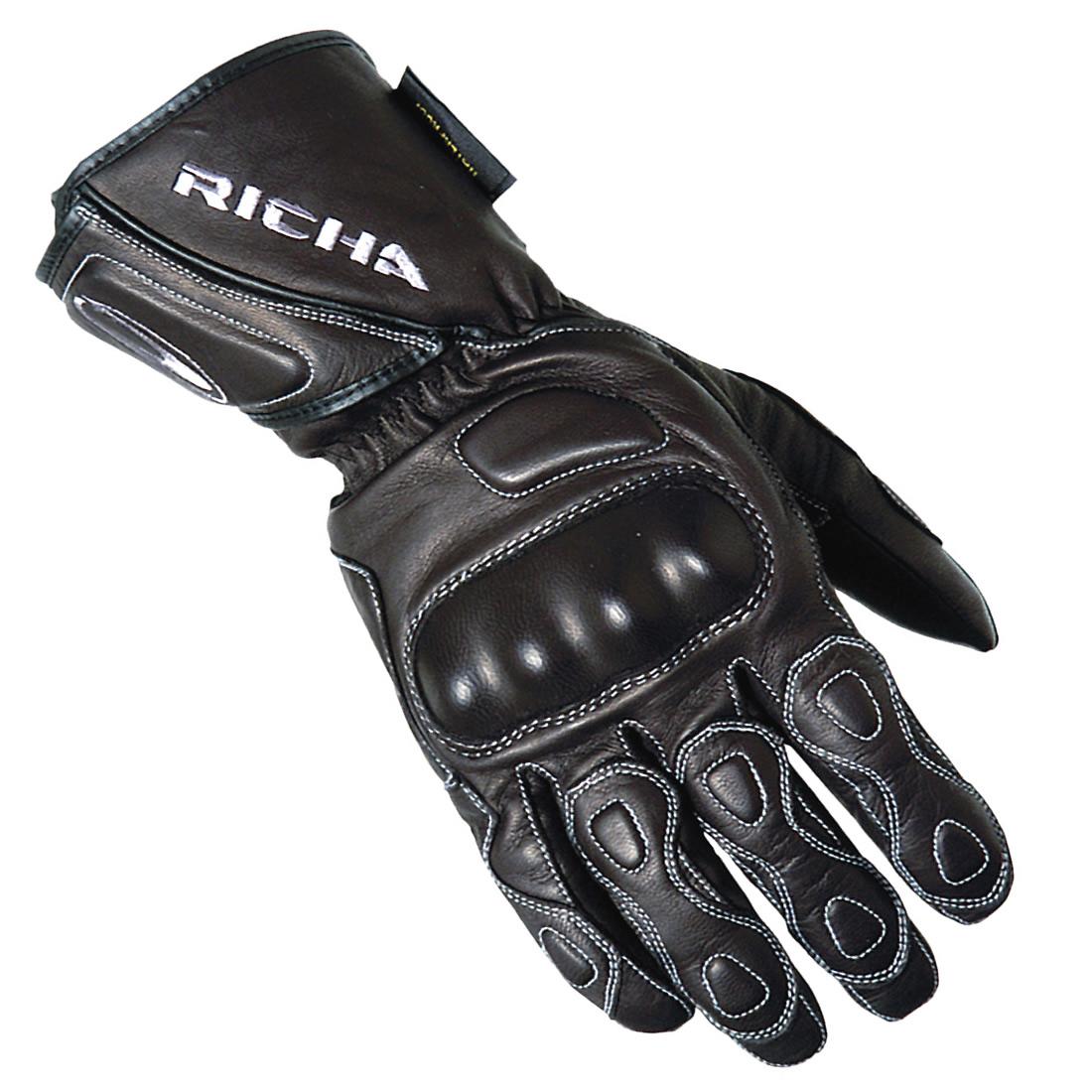 Motorcycle leather gloves waterproof - Richa Wp Racing Ladies Motorcycle Leather Gloves Womens