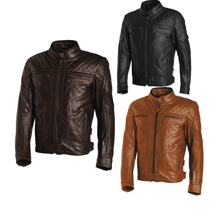 Richa Memphis Leather Motorcycle Jacket