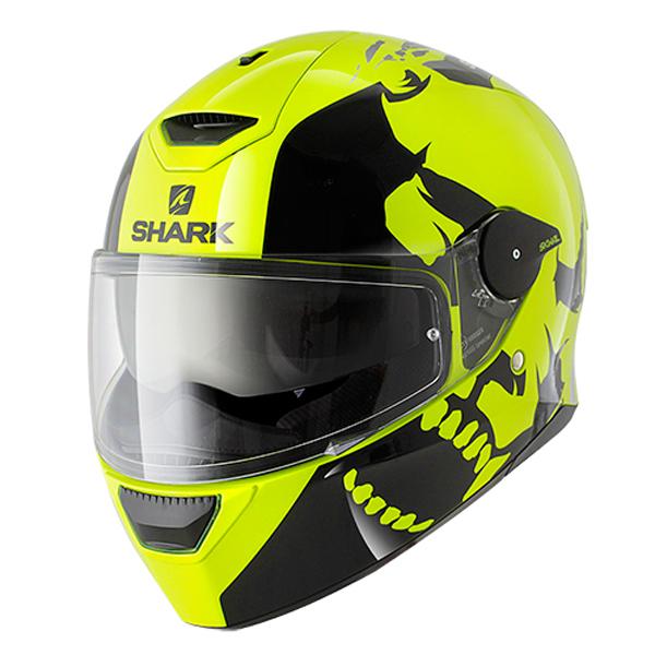 shark skwal instinct black yellow red motorcycle helmet yky led inner sun visor ebay. Black Bedroom Furniture Sets. Home Design Ideas