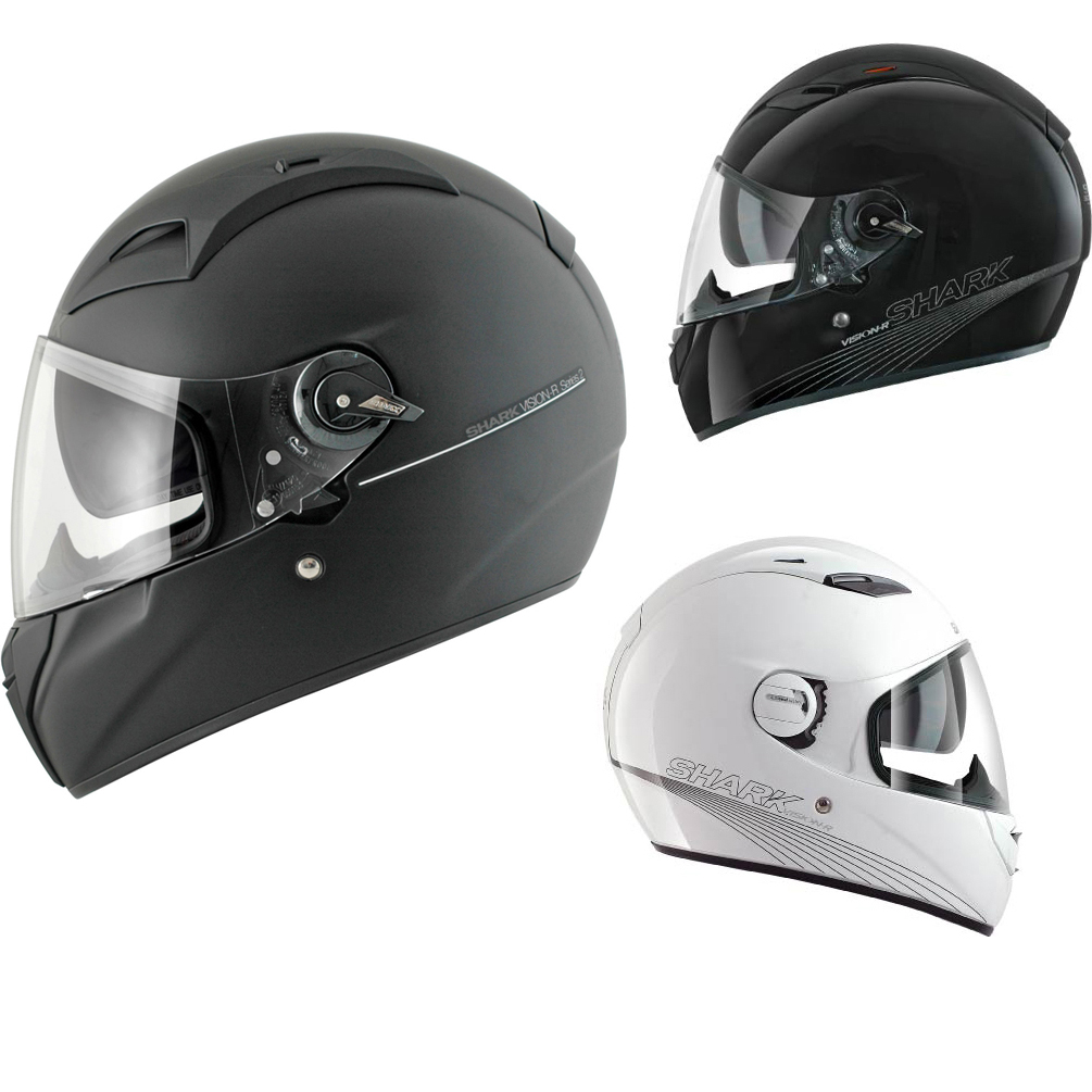 shark vision r series 2 st blank motorcycle helmet full face helmets. Black Bedroom Furniture Sets. Home Design Ideas