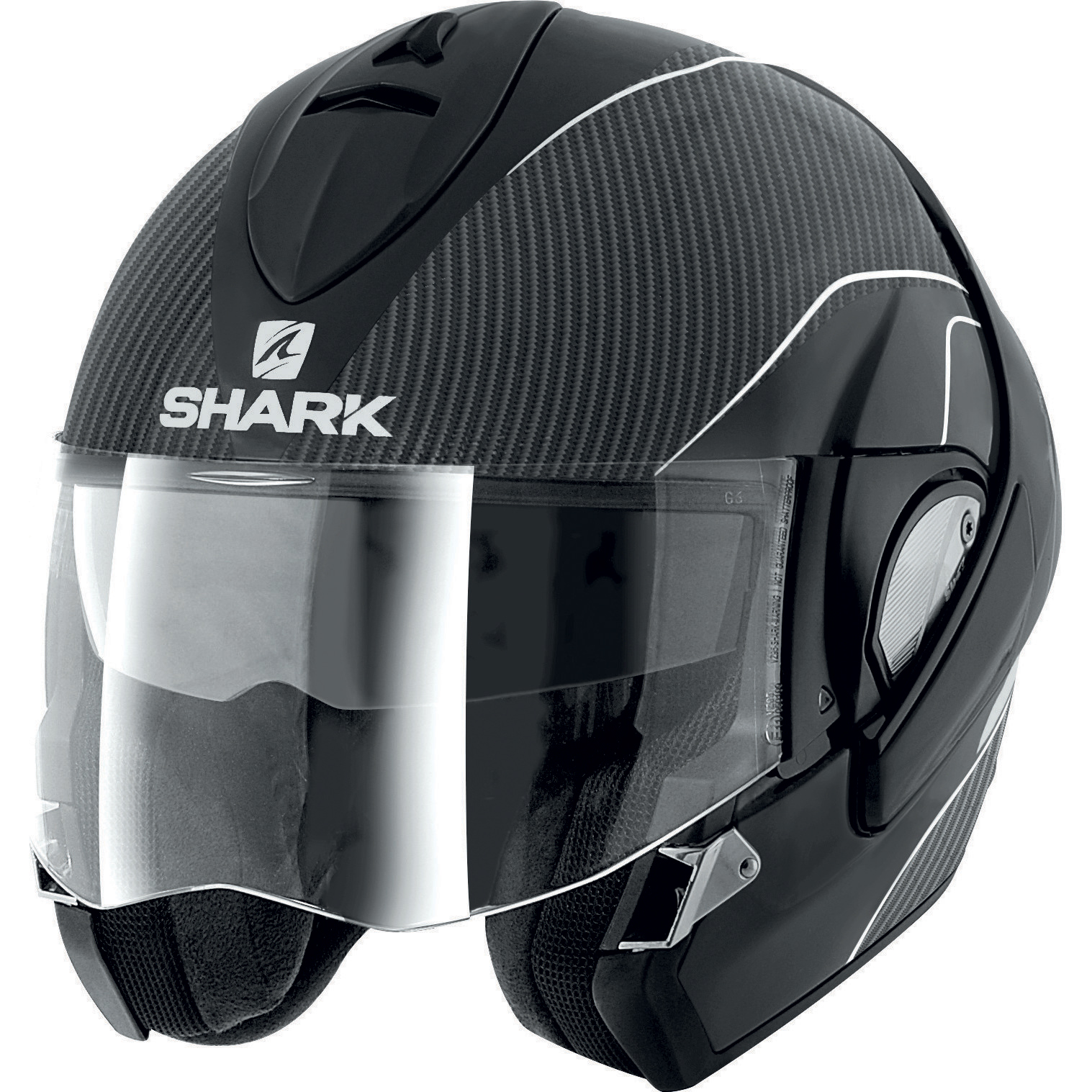 shark evoline pro carbon flip up front motorcycle helmet motorbike crash racing. Black Bedroom Furniture Sets. Home Design Ideas