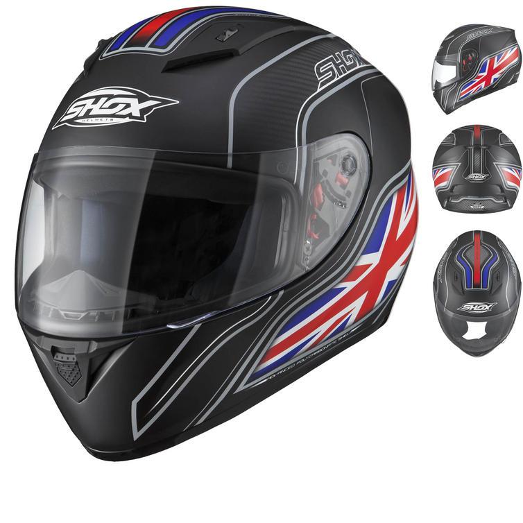 Shox Axxis Identity UK Matt Black Motorcycle Helmet