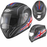 Shox Axxis Identity UK Matt Black Motorcycle Helmet